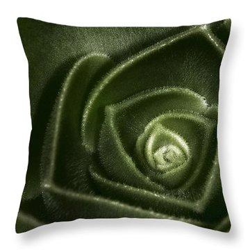 Soft Succulent Throw Pillow