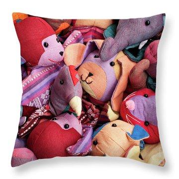 Soft Toys 02 Throw Pillow