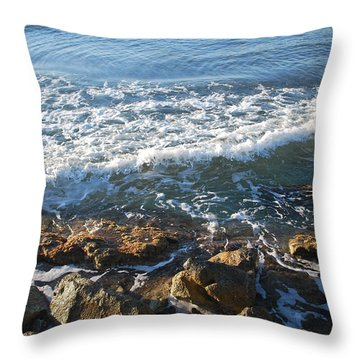Soft Waves Throw Pillow by George Katechis