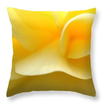 Soft Yellow Throw Pillow