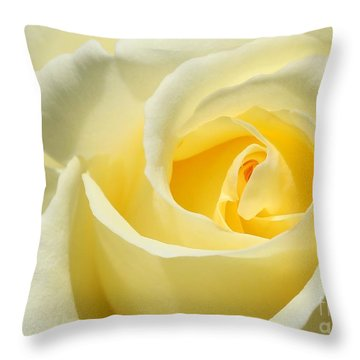 Soft Yellow Rose Throw Pillow