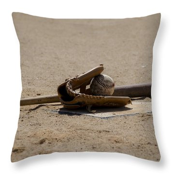 Softball Throw Pillow by Bill Cannon