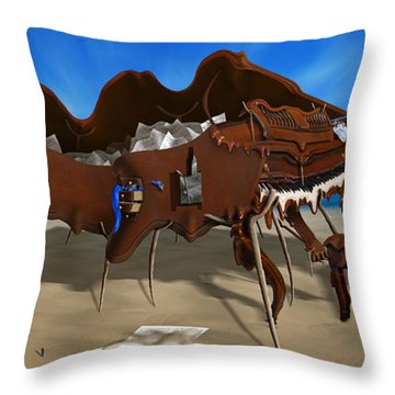 Softe Grand Piano Left Handed Panoramic Throw Pillow