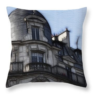 Softer Side Of Paris Architecture Throw Pillow