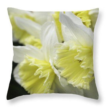Softly Spring Throw Pillow by Arlene Carmel
