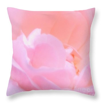 Softness Of A Rose Throw Pillow by Kathleen Struckle