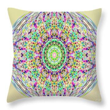 Softness. Art. Yellow Pink Design Throw Pillow