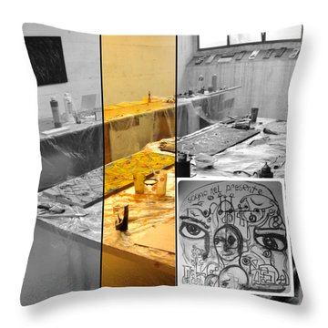 Throw Pillow featuring the photograph Sogno Nel Presente Part One by Sir Josef - Social Critic - ART
