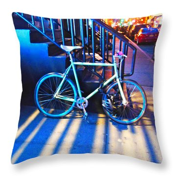 Soho Bicycle  Throw Pillow by Joan Reese