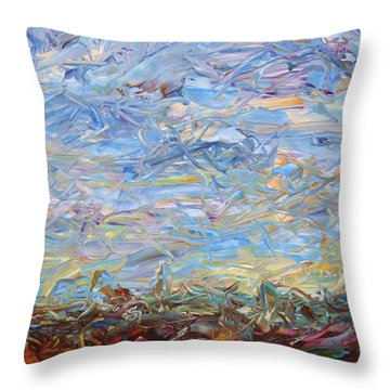 Soil Turmoil Throw Pillow by James W Johnson