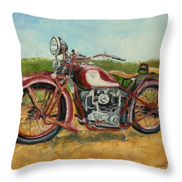 Sokol 1000 - Polish Motorcycle Throw Pillow