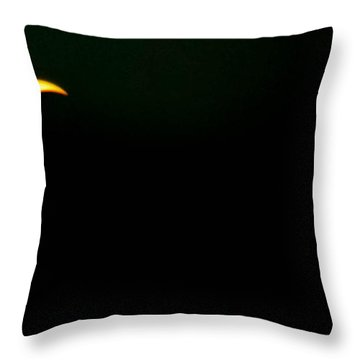 Throw Pillow featuring the photograph Solar Eclipse 2012 by Angela J Wright