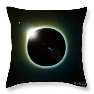 Solar Eclipse Throw Pillow by Antony McAulay