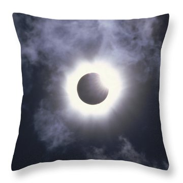 Solar Eclipse August 11 1999 Throw Pillow by Konrad Wothe