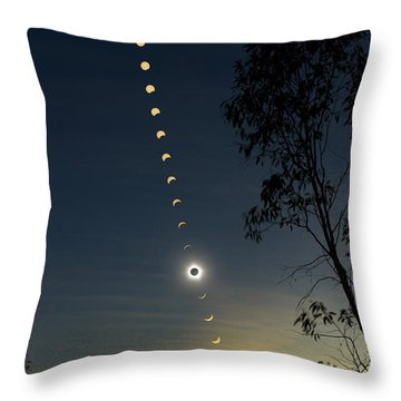 Solar Eclipse Composite, Queensland Throw Pillow by Philip Hart