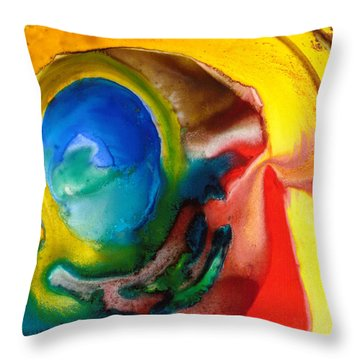 Throw Pillow featuring the painting Solar Flare by Catherine Redmayne