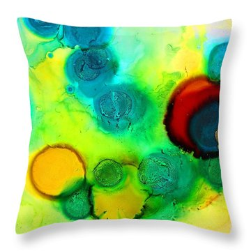 Solar Flare Throw Pillow by Tara Moorman