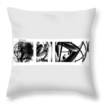 Throw Pillow featuring the photograph Solar Jail Triptych by Stwayne Keubrick