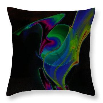 Throw Pillow featuring the digital art Solar Jedi by Chris Thomas