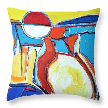 Solar Polyphony  Throw Pillow by Ana Maria Edulescu