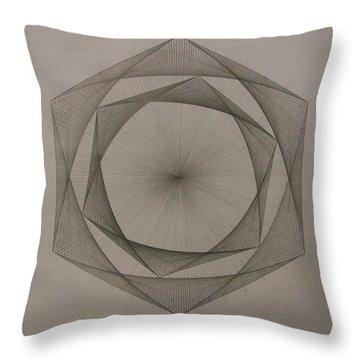 Solar Spiraling Throw Pillow