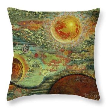 Solar Symphony Throw Pillow by Carol Jacobs
