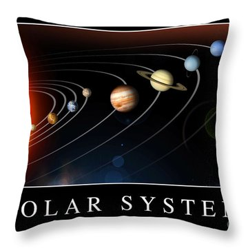 Solar System Poster Throw Pillow