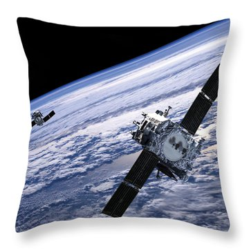 Solar Terrestrial Relations Observatory Satellites Throw Pillow by Anonymous