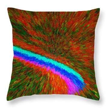 Throw Pillow featuring the painting Solar Winds C2014 by Paul Ashby