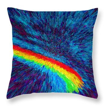 Throw Pillow featuring the painting Solar Winds II C2014 by Paul Ashby
