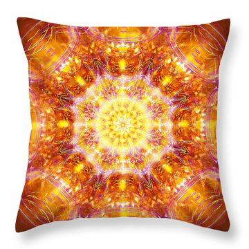 Throw Pillow featuring the painting Solarene by Jalai Lama