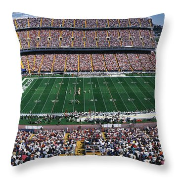 Sold Out Crowd At Mile High Stadium Throw Pillow