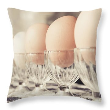 Soldier Eggs Throw Pillow by Cheryl Baxter
