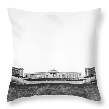 Soldiers' Field And Museum Throw Pillow by Underwood Archives