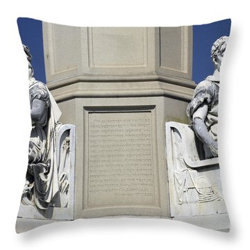 Soldiers Monument Detail Throw Pillow by Paul W Faust -  Impressions of Light