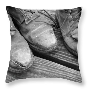 'sole' Mates Bw Throw Pillow