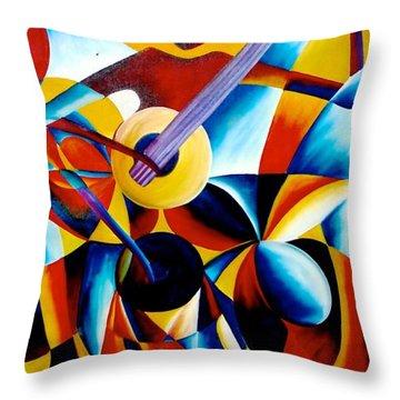 Sole Musician Throw Pillow