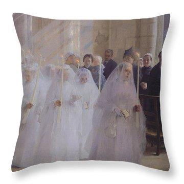 Solemn Communion Throw Pillow