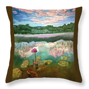 Solitary Bloom Throw Pillow