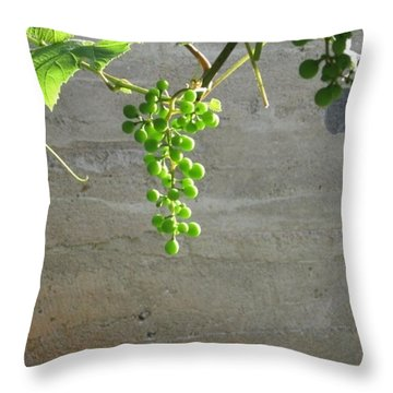 Solitary Grapes Throw Pillow