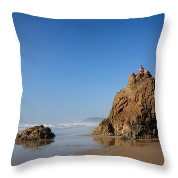 Throw Pillow featuring the photograph Solitary Ocean View by Karen Lee Ensley