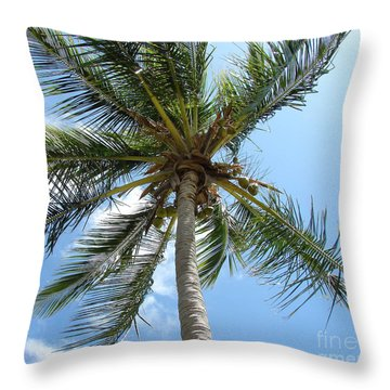 Solitary Palm Throw Pillow