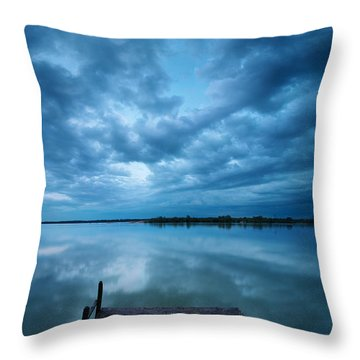 Solitary Pier Throw Pillow