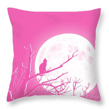 Solitary Pink Background Throw Pillow