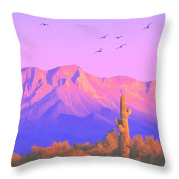 Solitary Silent Sentinel Throw Pillow by Sophia Schmierer