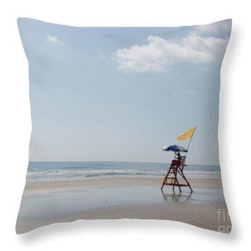 Solitary Watch Man Throw Pillow