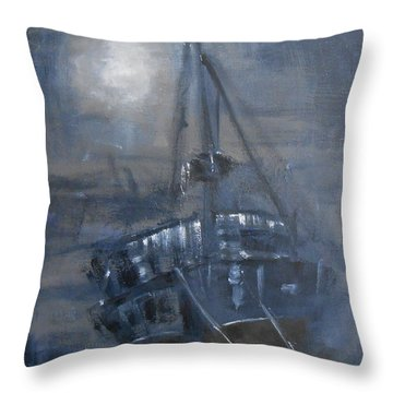 Throw Pillow featuring the painting Solitude 4 by Jane  See