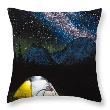 Solitude Throw Pillow by Aaron Spong