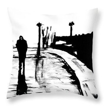 Solitude Throw Pillow by Alys Caviness-Gober