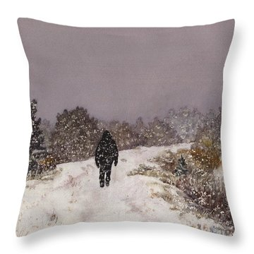 Solitude Throw Pillow by Anne Gifford